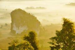 mgły ranek światło słoneczne Obrazy Royalty Free