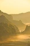 mgły ranek światło słoneczne Zdjęcie Royalty Free