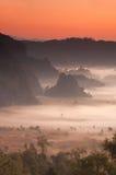 mgły ranek światło słoneczne Obrazy Stock