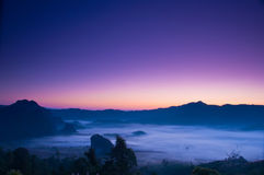 mgły ranek światło słoneczne Obraz Royalty Free