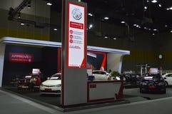 MG快速的车展泰国销售(泰国)商店2016年 免版税图库摄影