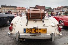 MG 1600,背面图,减速火箭的设计汽车 葡萄酒汽车的陈列 免版税库存图片