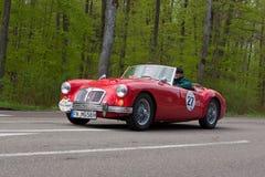 MG 1958 A am ADAC Wurttemberg historisches Rallye 2013 Lizenzfreie Stockfotografie