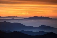 Mgławi wzgórza Zdjęcie Stock