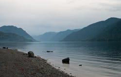 mgławy jezioro Fotografia Royalty Free