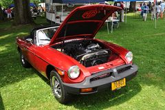 MG B In Antique Car Show Stock Photo