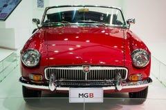 MG B na exposição fotos de stock