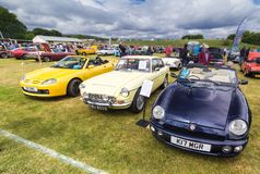 MG Cars at a vintage cars rally stock photo