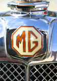 MG Classic Chrome Cowl Badge. With clipping path Stock Photography