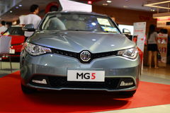 MG 5. The MG 5 is a compact car that has been produced by the British company MG Motors from 2012 onwards. It was launched on 28 March 2012 in China and shares Stock Photo