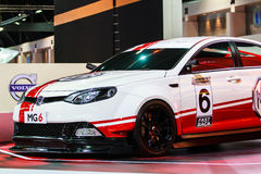 MG 6 displayed on stage at The 35th Bangkok International Motor Show 2014 Royalty Free Stock Photo