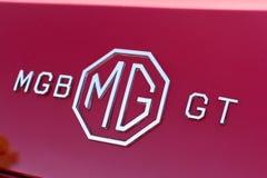 MG emblemat na pokazie Fotografia Stock