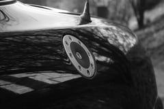 MG F signature fuel cap. MG F rear wing showing signature fuel filler cap Stock Photos