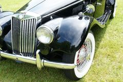 MG Front View. Closeup of the 1954 mg car front end Royalty Free Stock Image