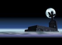 mgła grób ilustracja wektor