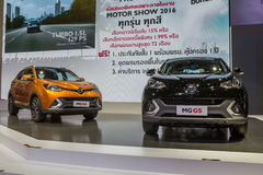 MG GS, SUV汽车,显示在泰国第37个曼谷国际性组织 库存图片