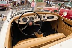 MG interno 1600, dentro la vista, retro automobile di progettazione Fotografie Stock Libere da Diritti