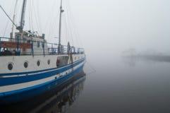mgła jachty Fotografia Royalty Free