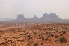 Mg?a krajobraz w Arizona, Pomnikowa dolina Kolorowy, turystyka obrazy royalty free