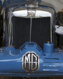 MG, logo on classic sport car Stock Image