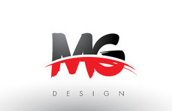 Free MG M G Brush Logo Letters With Red And Black Swoosh Brush Front Royalty Free Stock Photo - 93389365