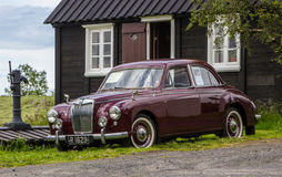 1958 MG Magnette. An image of a 1958 MG Magnette at antique car show in Reykjavik, Iceland Royalty Free Stock Photography