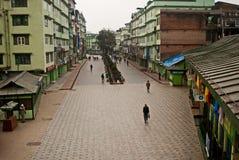 MG Marg, Gangtok Fotografering för Bildbyråer