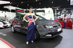 MG MG6 car with Unidentified model on display Stock Photography