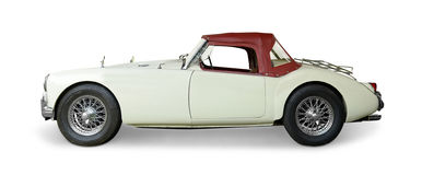 MG MGA Roadster. A MG MGA classic Roadster car on white background Stock Image