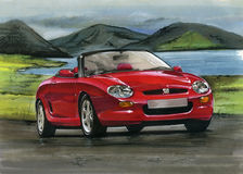 MG MGF Obrazy Stock