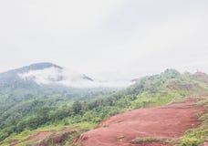 Mgła na górach Obrazy Stock