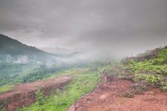 Mgła na górach Fotografia Stock