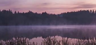 Mgła na jeziorze Obraz Stock