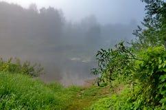 Mgła na rzece Fotografia Stock