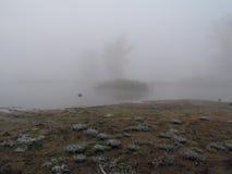 Mgła na rzece Obraz Royalty Free
