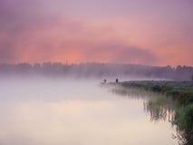 Mgła nad jeziorem Fotografia Royalty Free