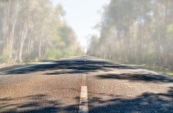 mgłowa droga Zdjęcie Stock
