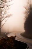 Mgłowa droga Zdjęcia Royalty Free