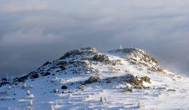 Mgłowa góra Obrazy Stock