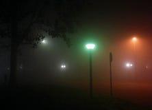 mgłowa noc Fotografia Royalty Free