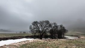 Mgłowa pogoda Obraz Royalty Free