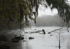 Mgłowa Rzeczna Santa Fe rzeka Obrazy Stock
