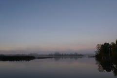 Mgłowa rzeka Fotografia Royalty Free