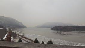 Mgłowa rzeka Obrazy Stock