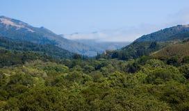 mgłowe góry obraz stock