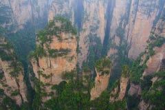 Mgłowe góry Zhangjiajie Zdjęcie Royalty Free