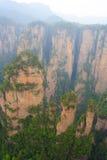 Mgłowe góry Zhangjiajie Obrazy Royalty Free