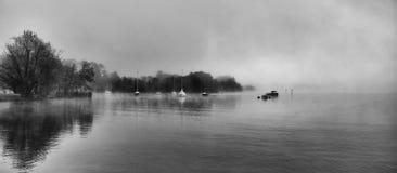 mgłowe wody Obraz Stock