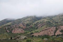 Mgłowy Kolorado zbocze góry zdjęcie royalty free