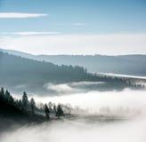 mgłowy krajobraz Obrazy Royalty Free